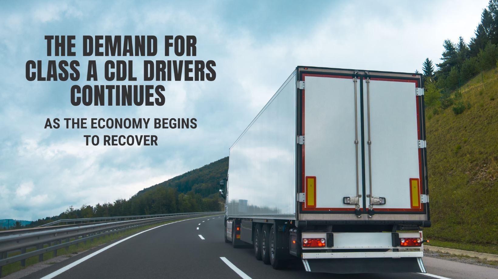 demand for class a cdl drivers
