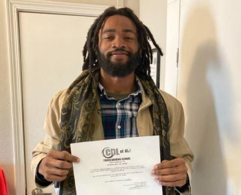 Tabyron Nettles, CDL of AL Graduate